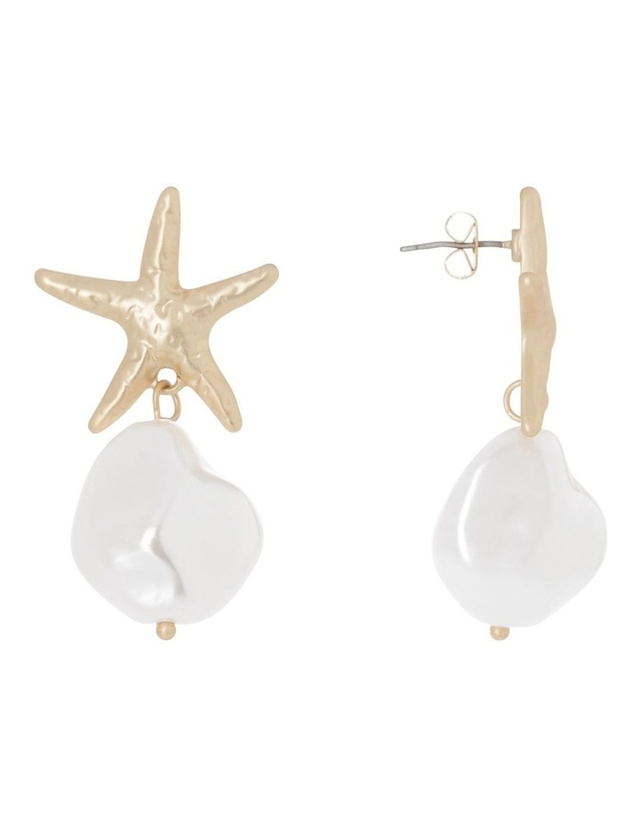 Starfish Pearl Earrings image 2
