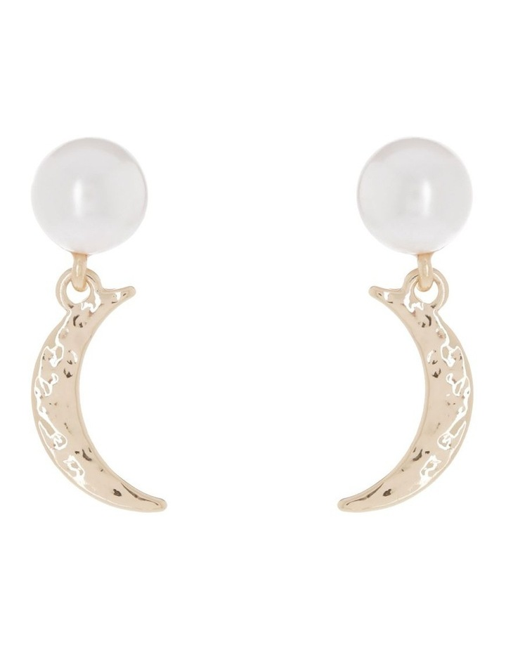 Moon & Pearl Earrings image 1