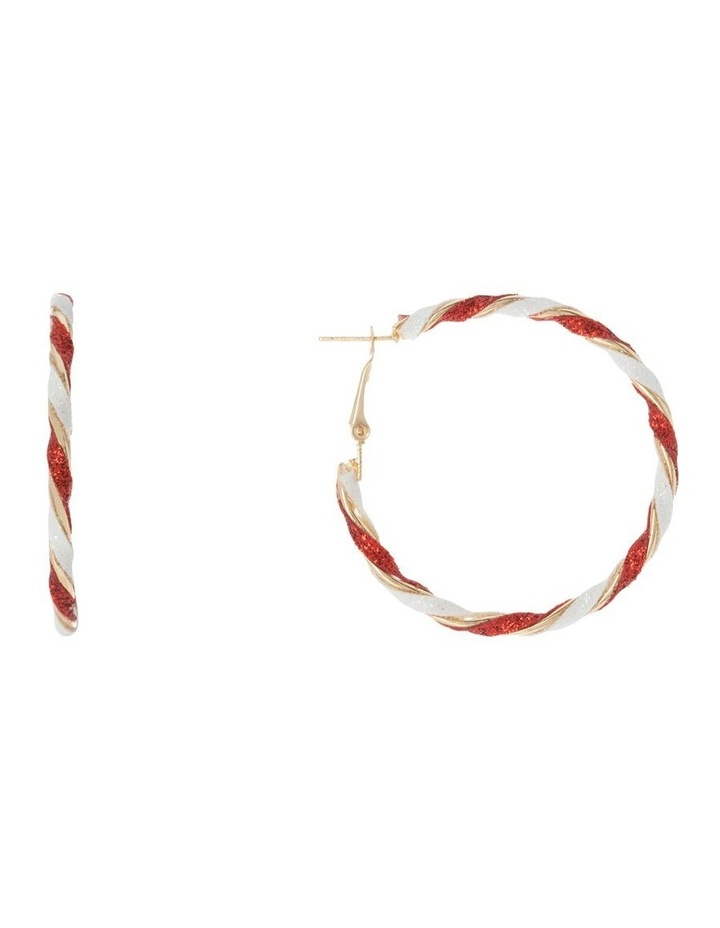 Candy Cane Hoop Earrings image 1