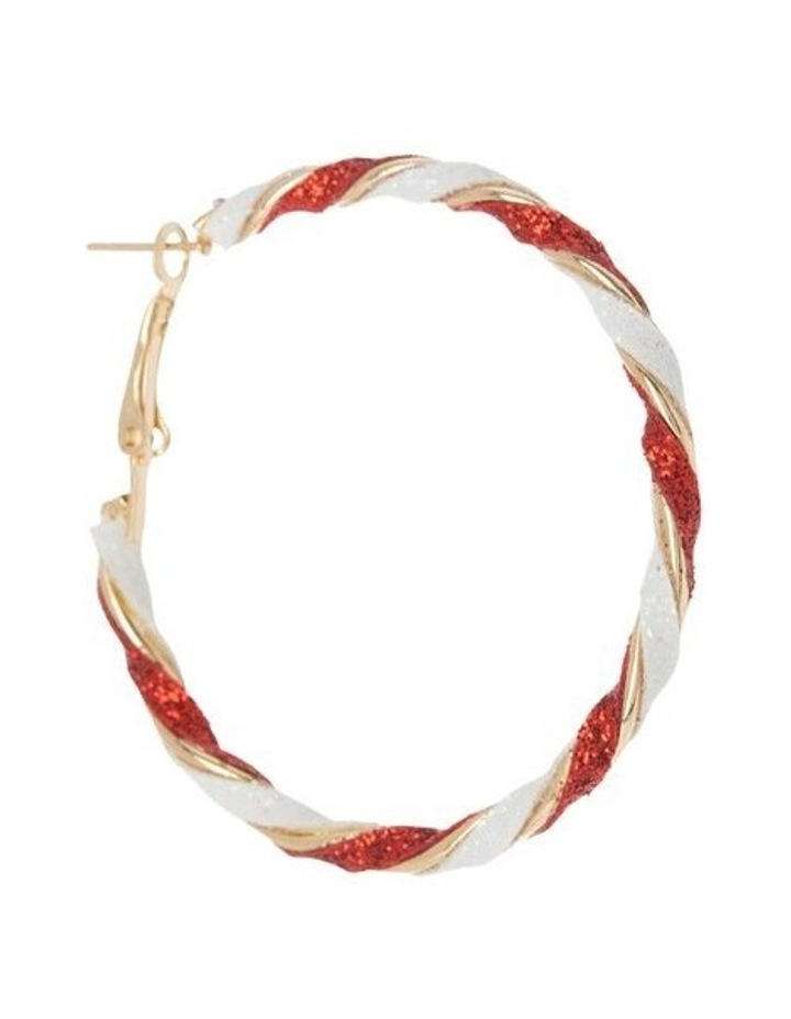 Candy Cane Hoop Earrings image 2