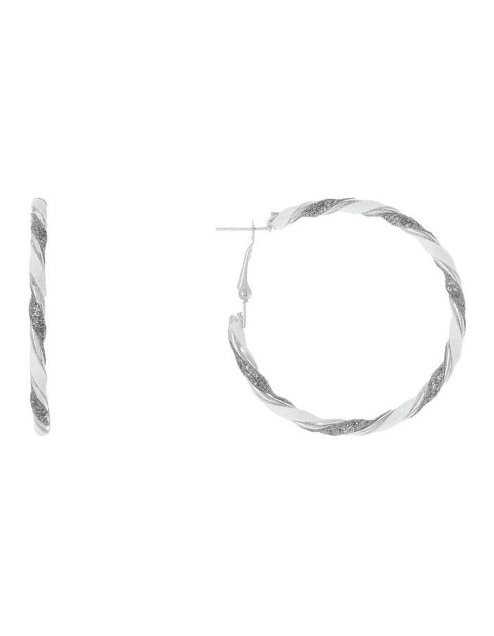 Candy Cane Hoop Earrings image 1