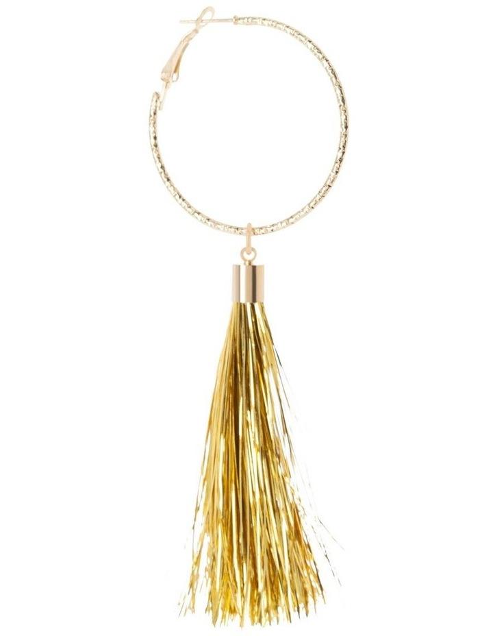 Sparkle Tassel Drop Earrings image 2