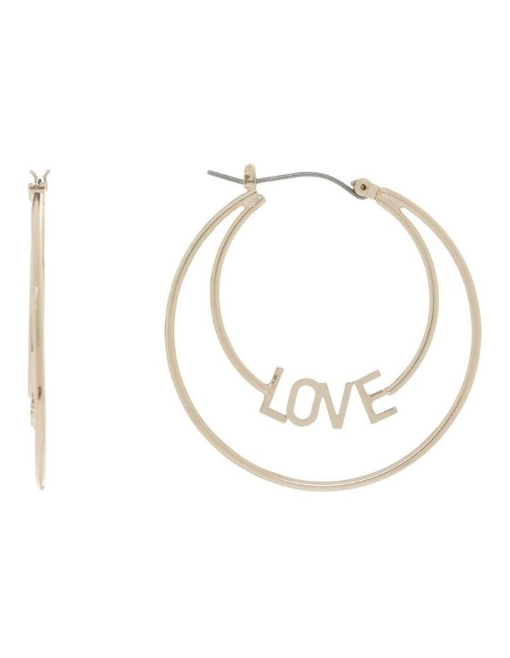 Love Hoop Earrings image 1