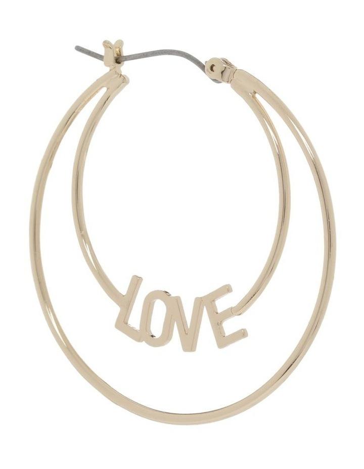 Love Hoop Earrings image 2