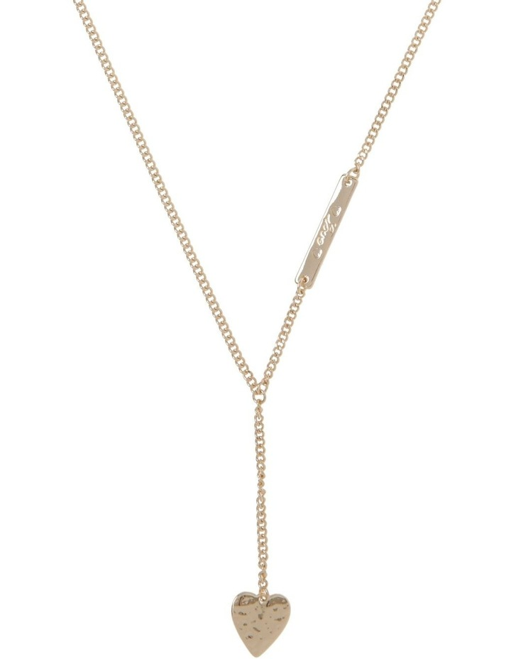 Engraved Long Lariat Necklace image 1