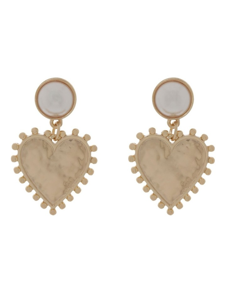 Pearl And Heart Earrings image 1