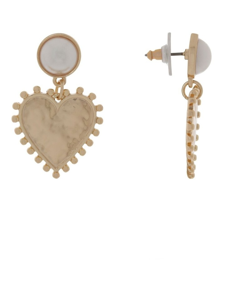 Pearl And Heart Earrings image 2