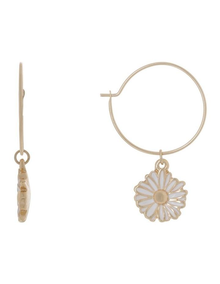 Daisy Mini Hoops Earrings image 1