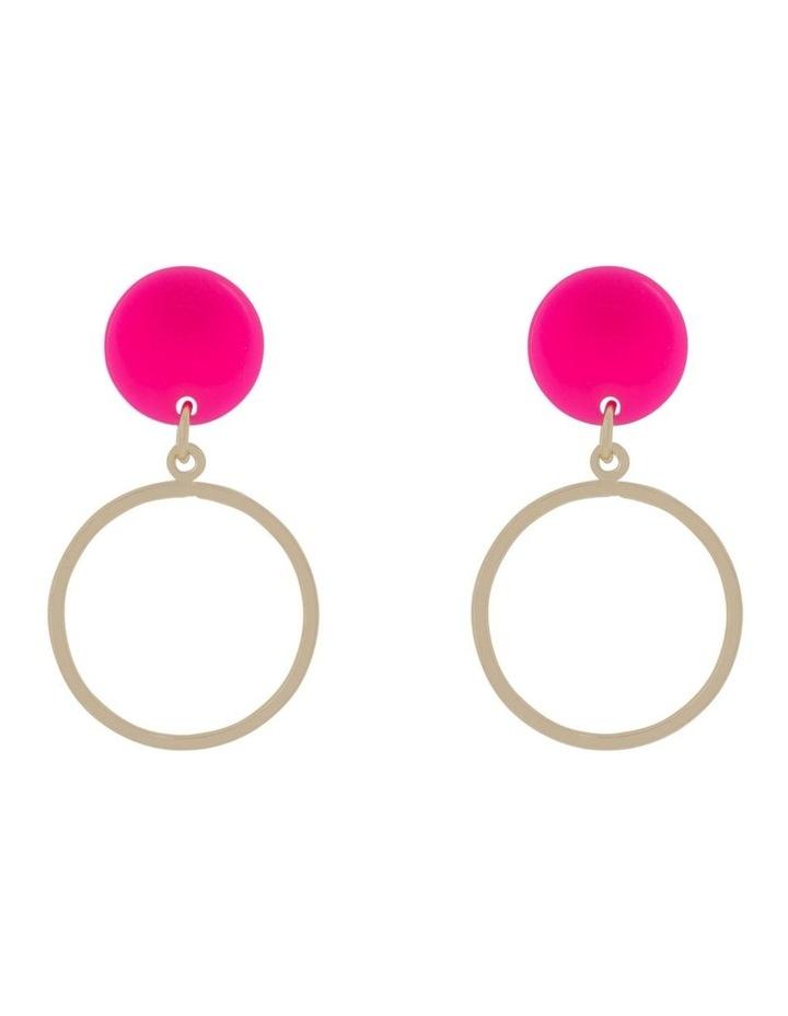 Mini Perspex Hoops Earrings image 1
