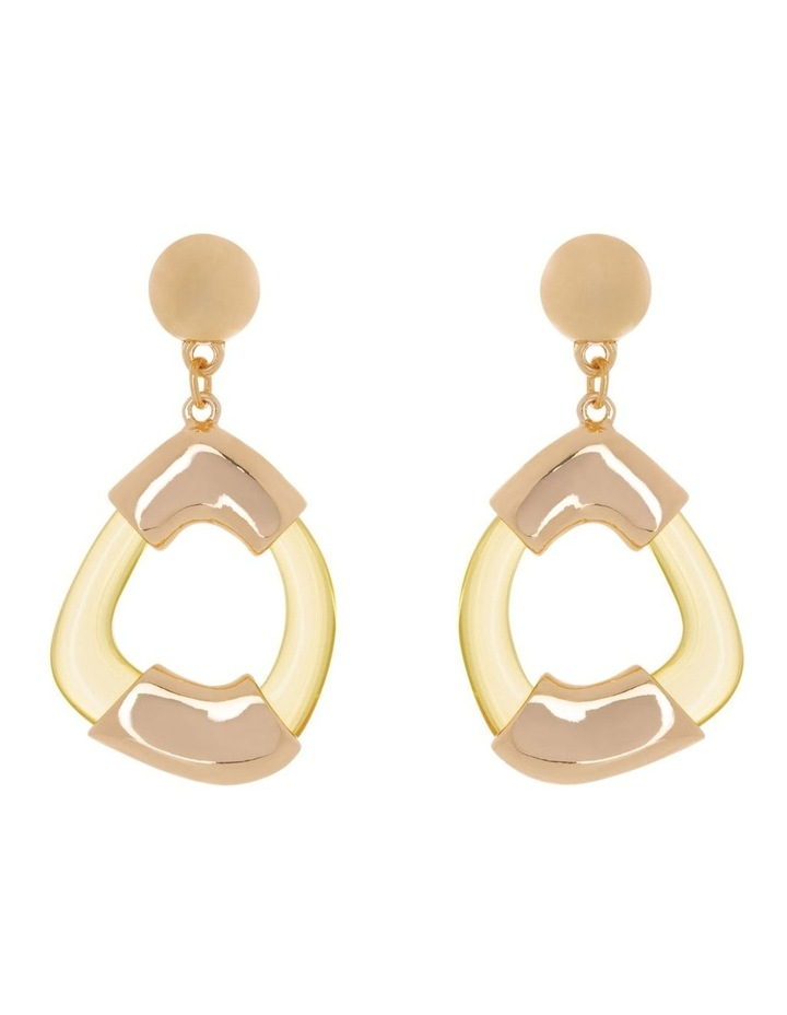 Mini Perspex Hoops Earrings image 1