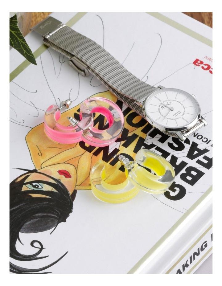 Geo Resin Hoops Earrings image 3