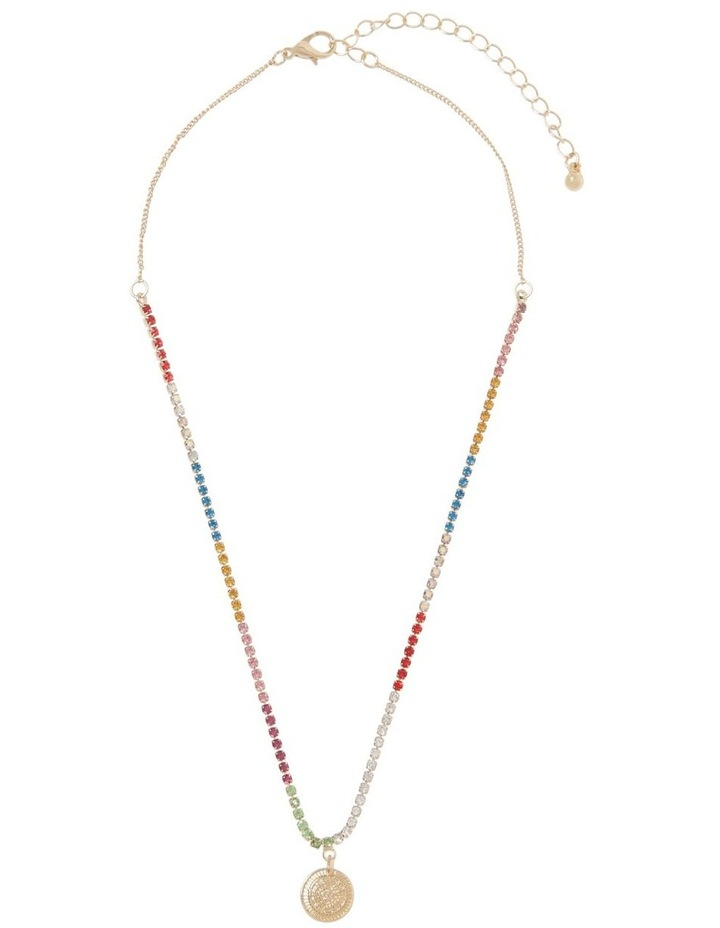 Rainbow Pendant Layered Charm Necklace image 3