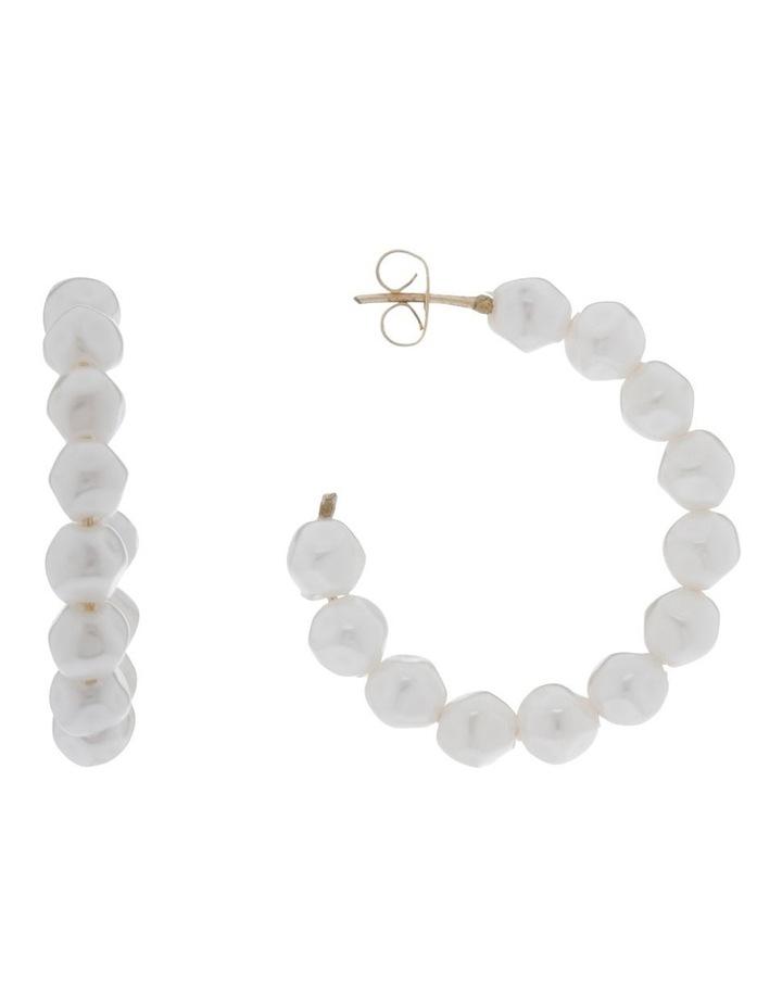 Mini Pearl Hoop image 1
