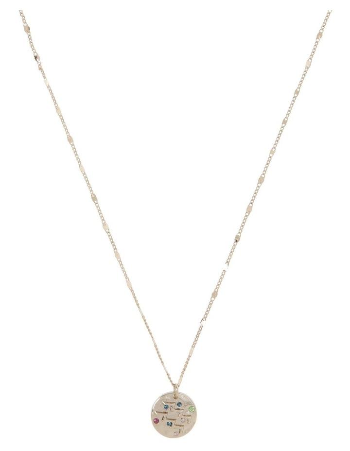 Zodiac Pendant Necklace - Aquarius Necklace image 1