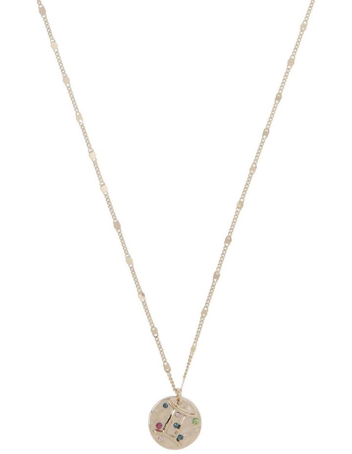 Zodiac Pendant Necklace - Gemini image 1