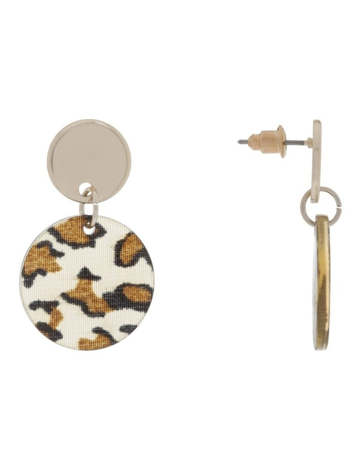 Mini Leopard Perspex Earrings image 2