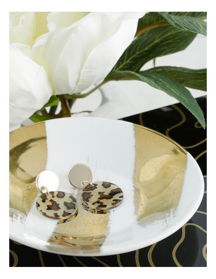 Mini Leopard Perspex Earrings image 3