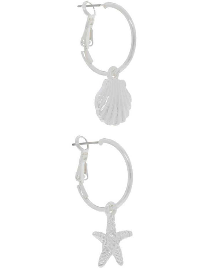 Mini Shell & Seashell Hoops 2 Pack Earrings image 2