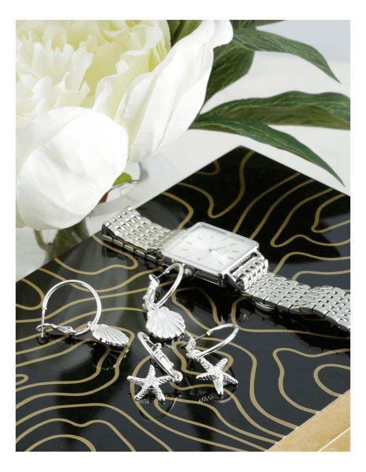 Mini Shell & Seashell Hoops 2 Pack Earrings image 3