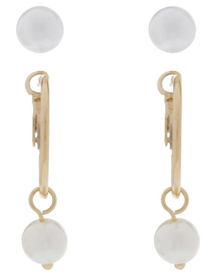 Mini Pearl Hoops & Pearl Stud 2 Pack Earrings image 1