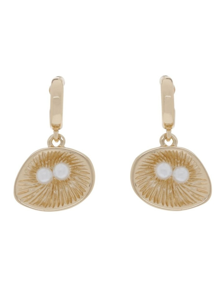 Open Shell And Pearl Earrings image 1