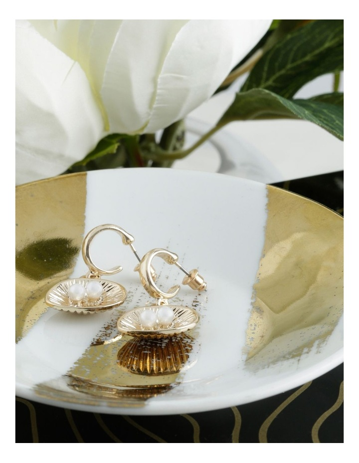 Open Shell And Pearl Earrings image 3
