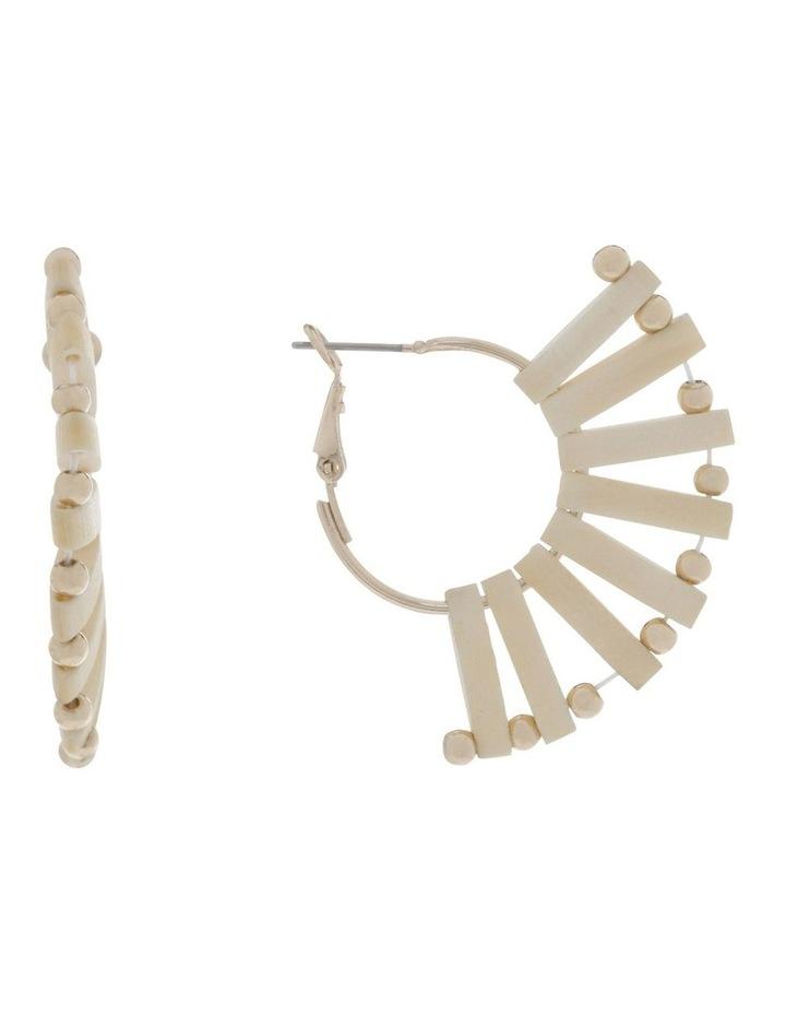Mini Woven Fan Earrings image 1