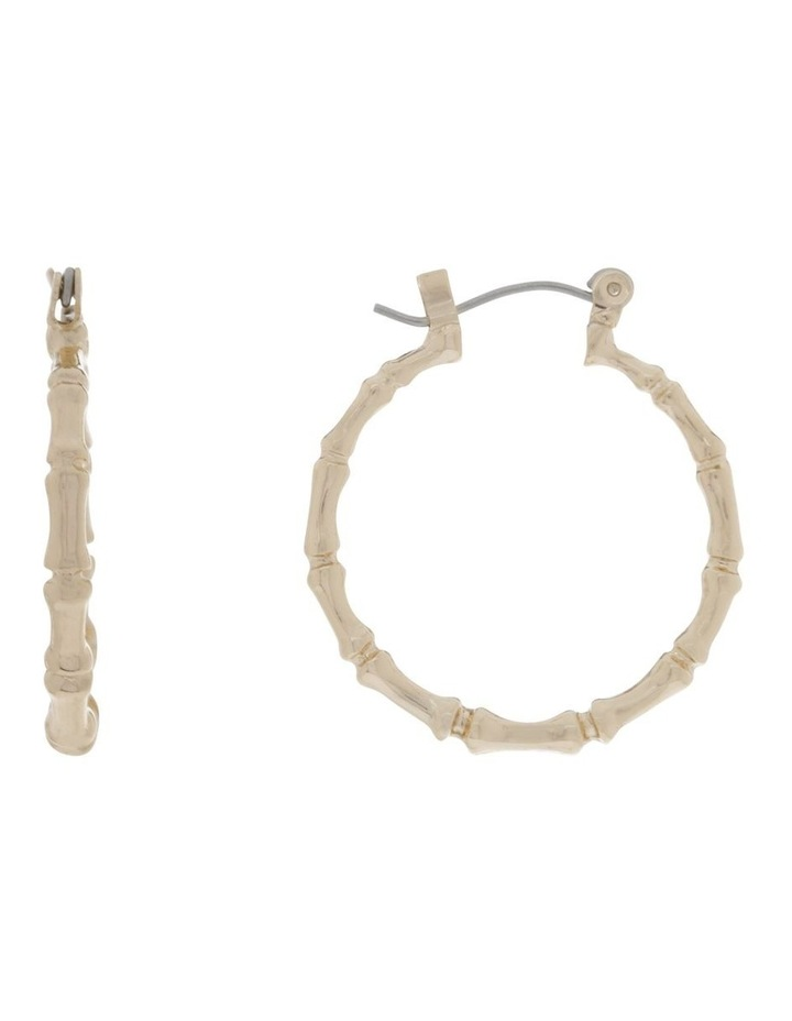 Mini Bamboo Hoop Earring Earrings image 1