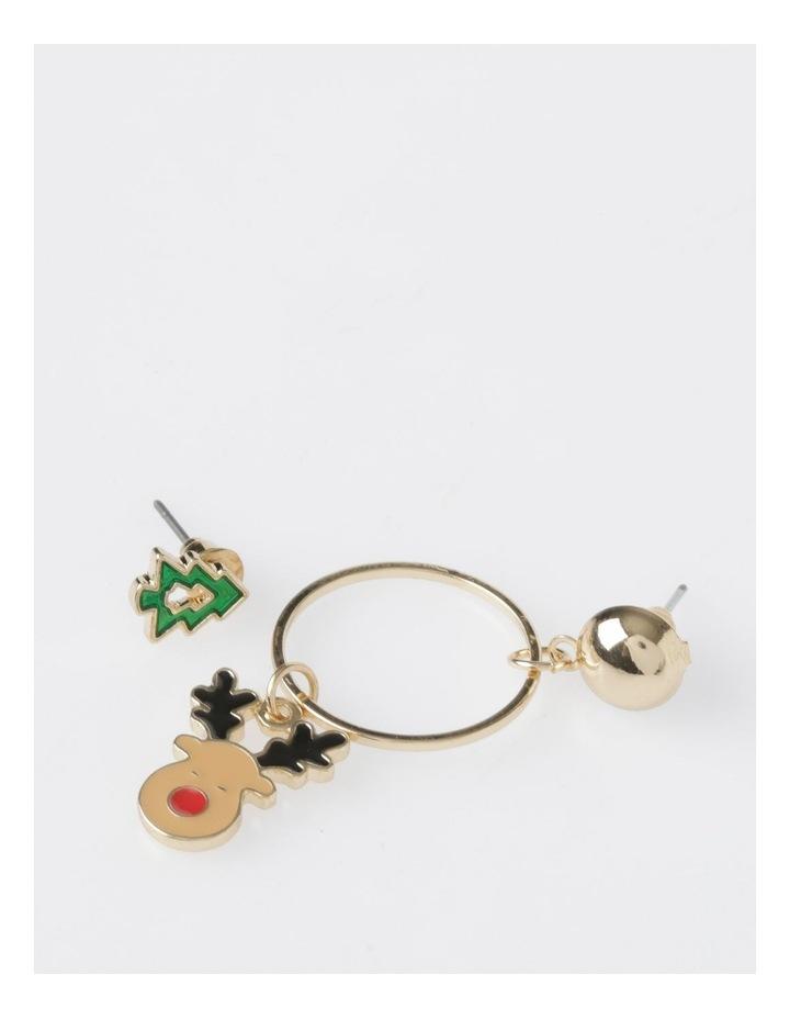 Christmas Tree & Reindeer Earring 2Pk Earrings image 1