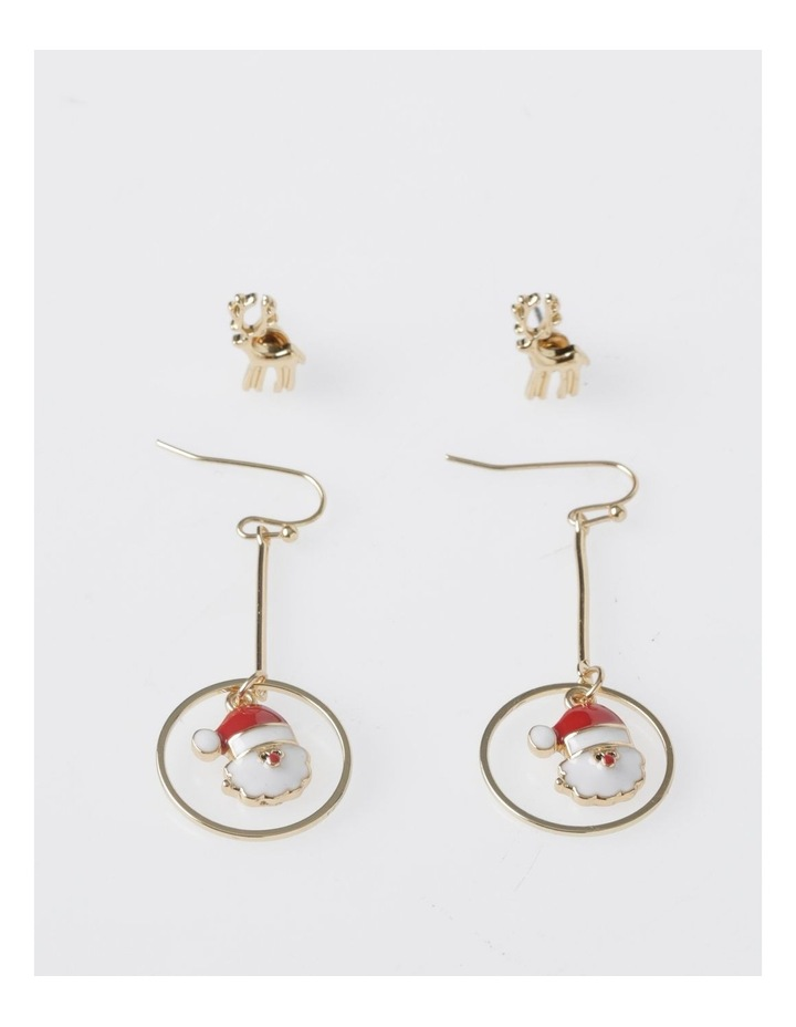 Reindeer & Santa Earring 2Pk Earrings image 1