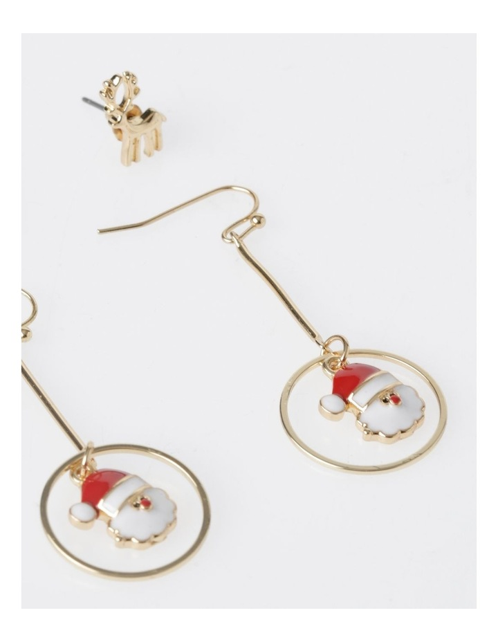 Reindeer & Santa Earring 2Pk Earrings image 2