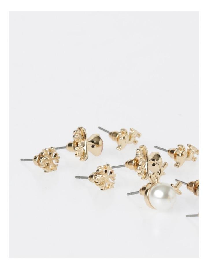 A78804S Candy Cane & Reindeer Stud Earring 6Pk Earrings image 4