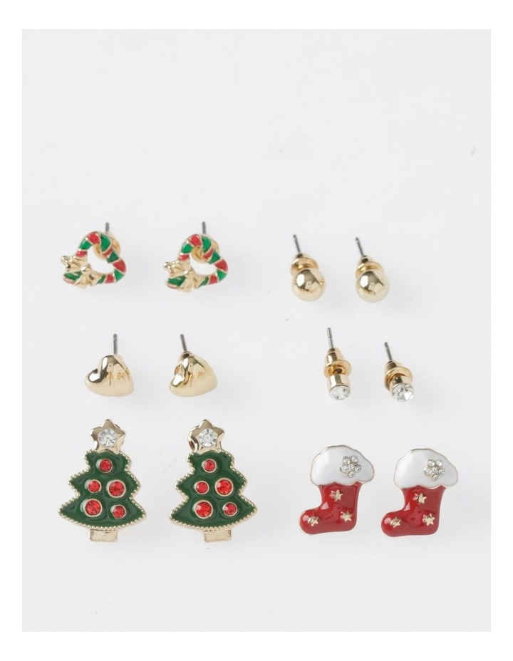 A78805S Christmas Tree Stud Earring 6Pk Earrings image 1