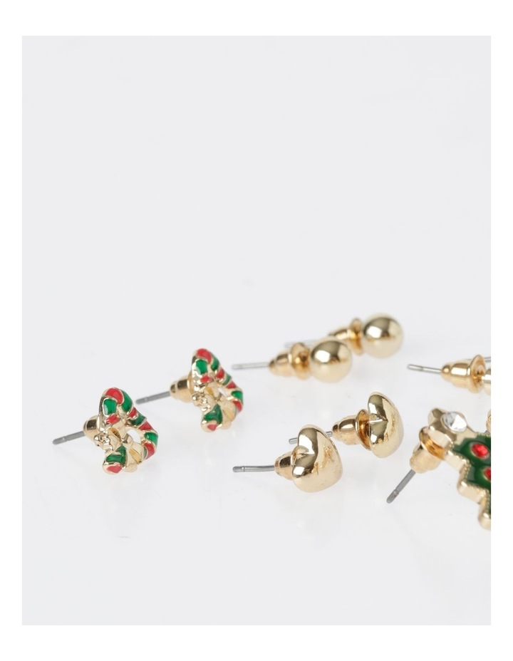 A78805S Christmas Tree Stud Earring 6Pk Earrings image 3
