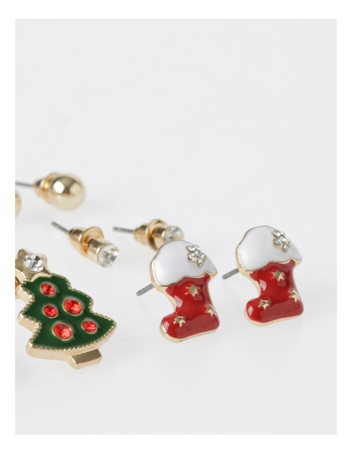 A78805S Christmas Tree Stud Earring 6Pk Earrings image 4