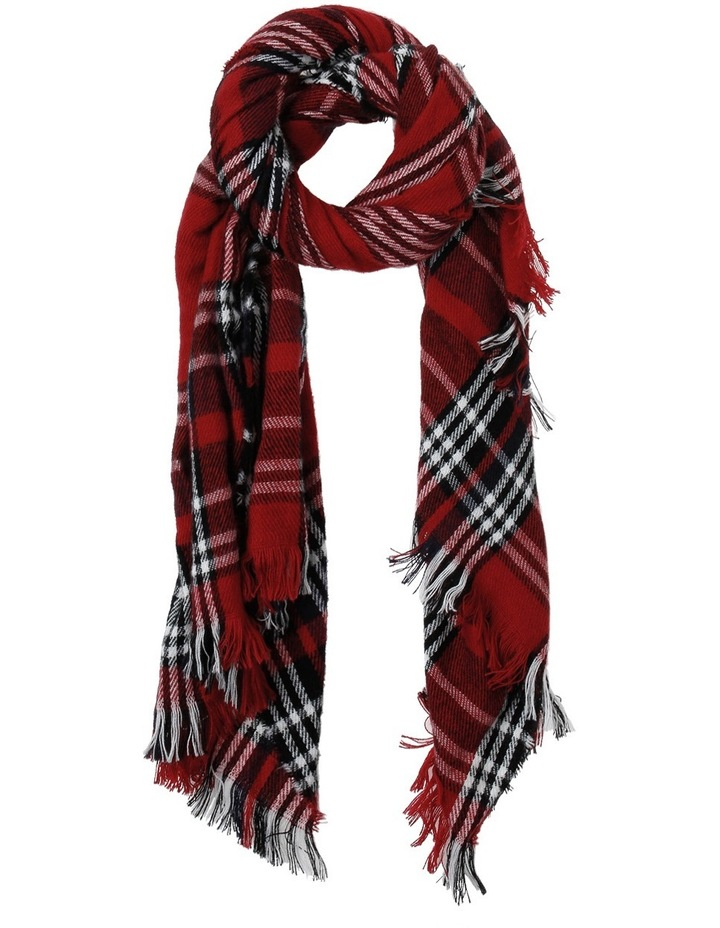 Red Check Scarf image 1
