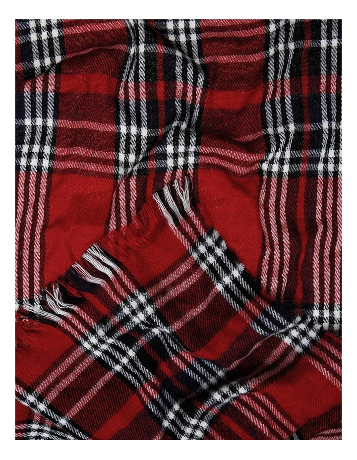 Red Check Scarf image 2