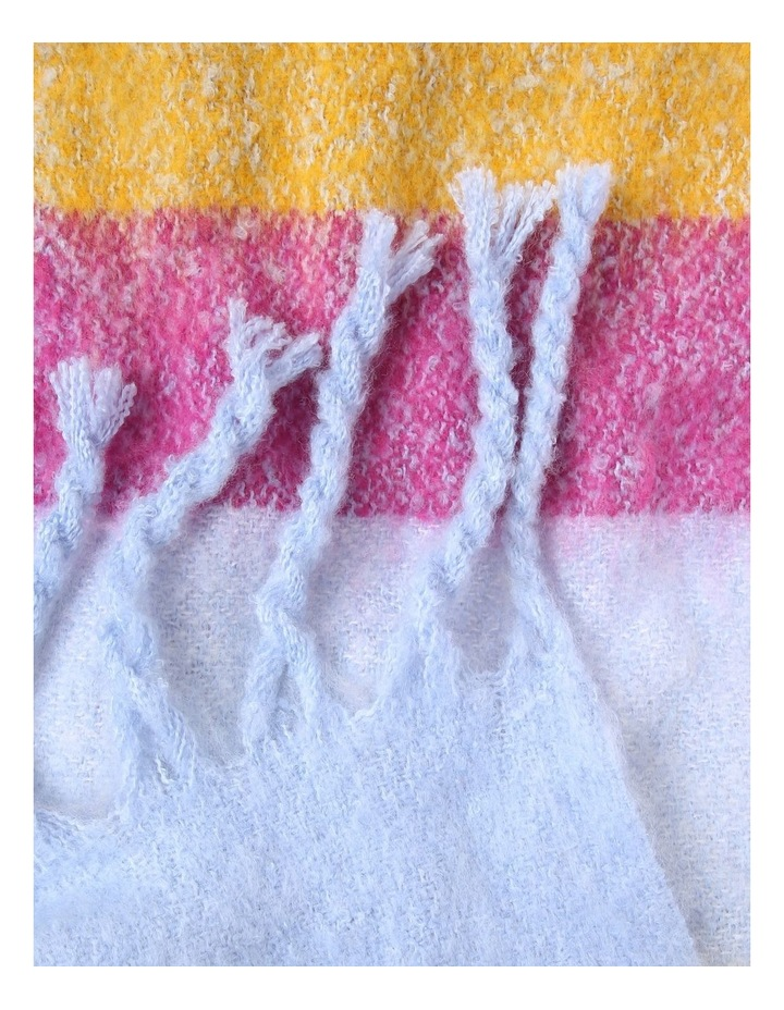 Stripe Tassel Boucle Winter Scarf image 2
