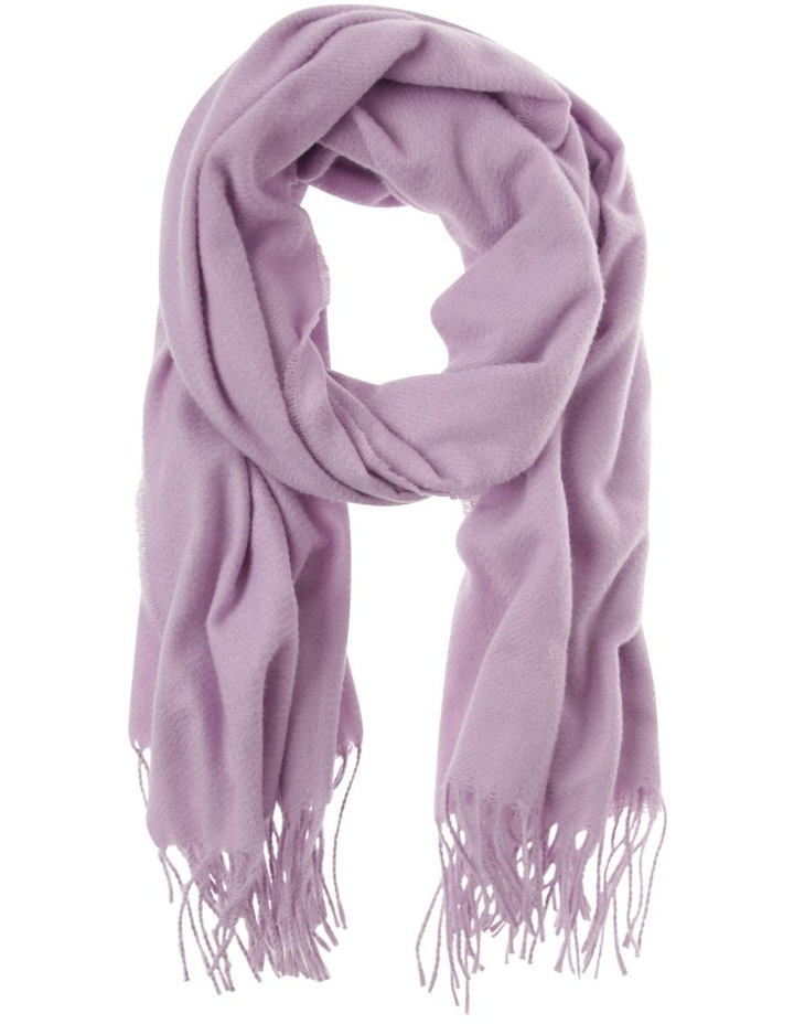Classic Wide Winter Scarf with Fringe Hem image 1