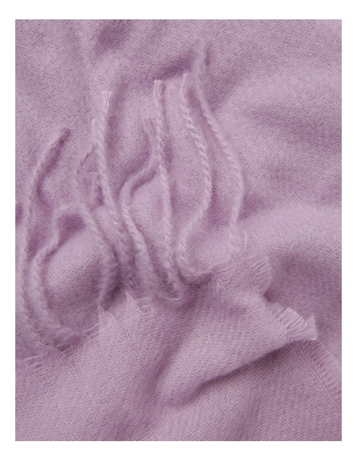 Classic Wide Winter Scarf with Fringe Hem image 2