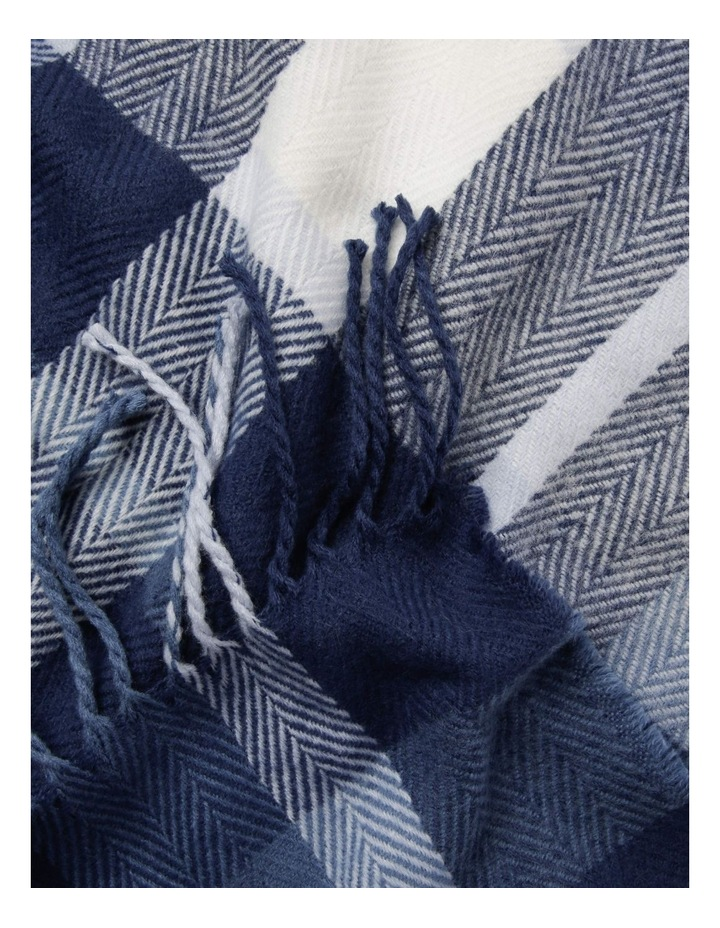 Chevron Check Winter Scarf with Fringe Hem image 2