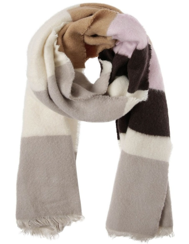 Fluffy Multi Stripe Blanket Scarf image 1