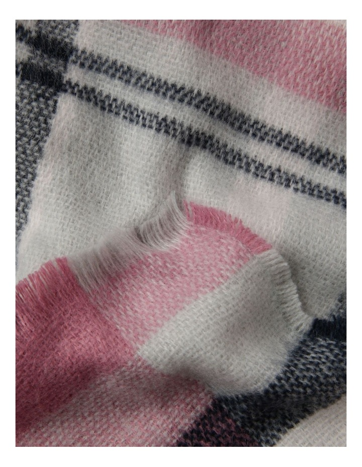 Multi Check Fringed Blanket Scarf image 2