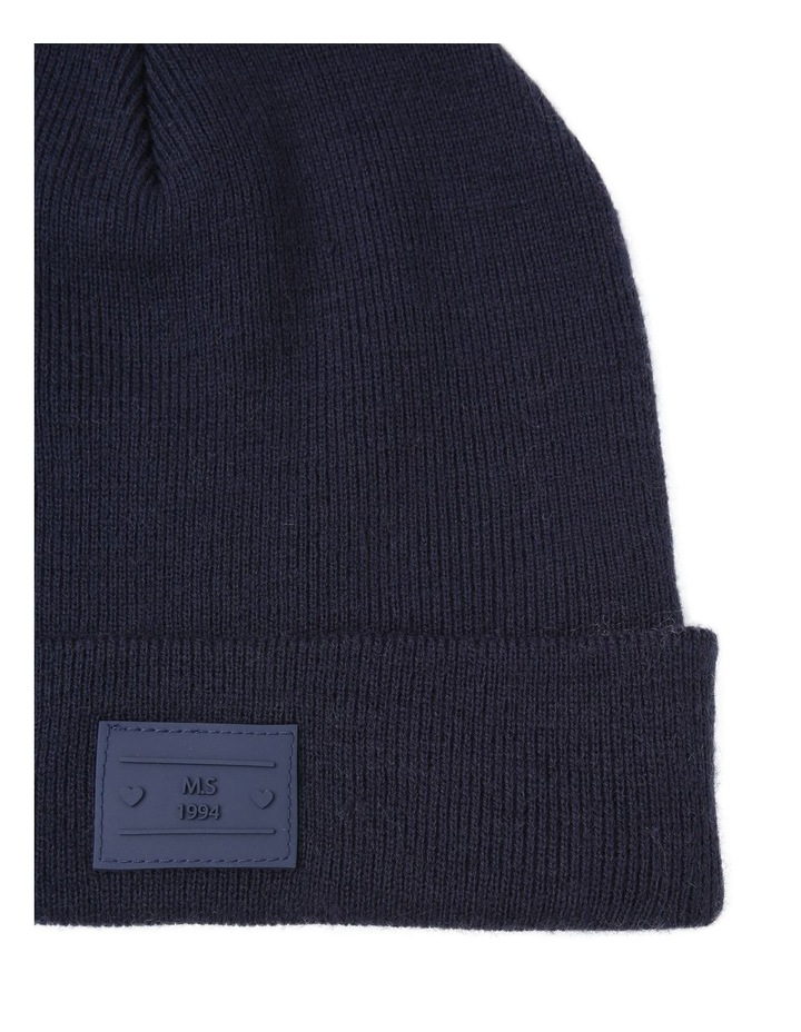 Turn Up Beanie with Logo Winter Hats image 2