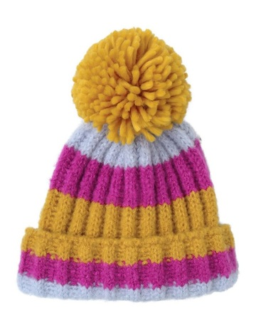 7f981b581773d Miss ShopMulti Colour Stripe Beanie Winter Hats. Miss Shop Multi Colour  Stripe Beanie Winter Hats
