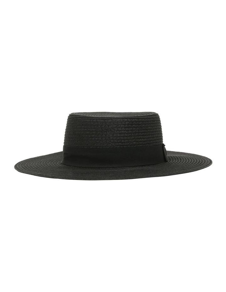Low Crown Boater Hat - Black image 1