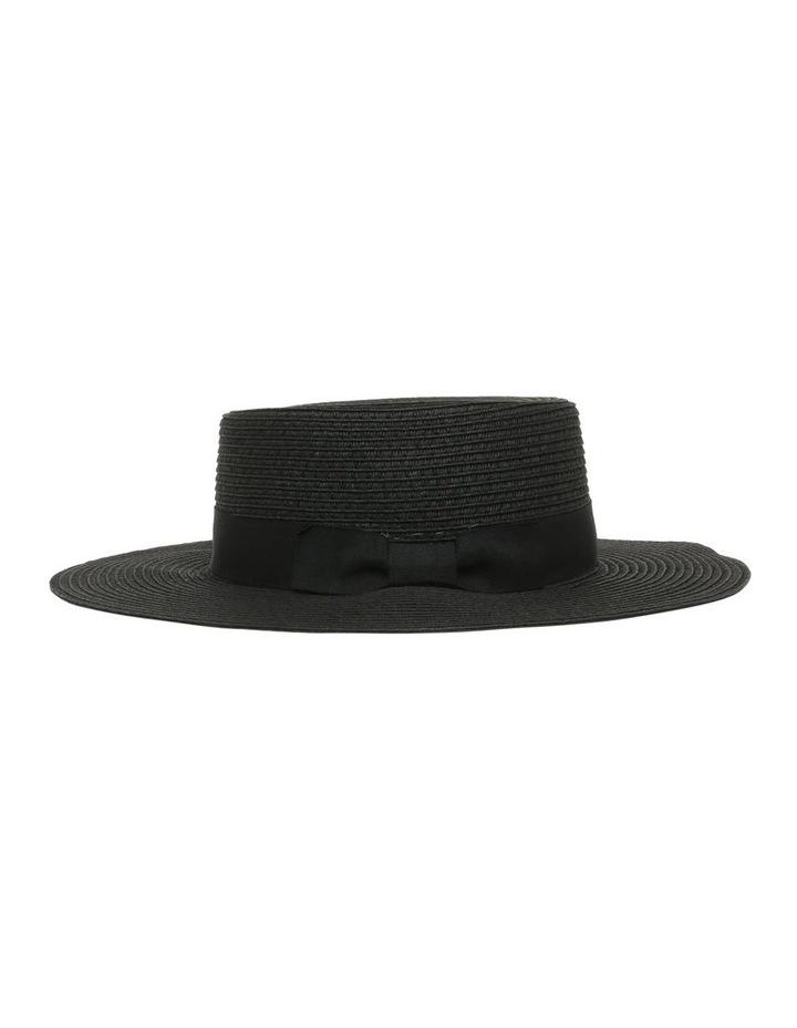 Low Crown Boater Hat - Black image 2