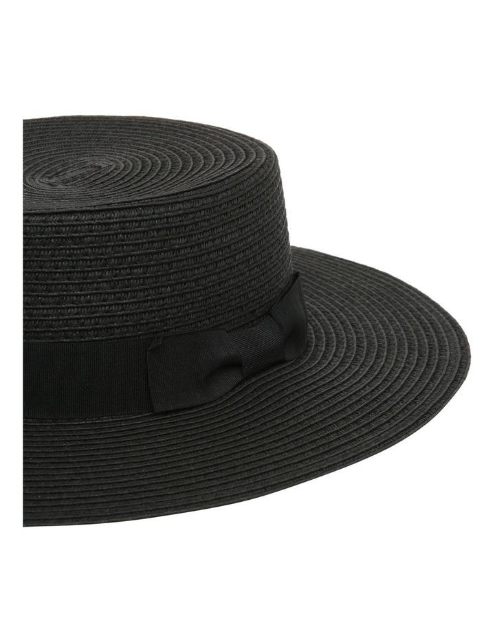 Low Crown Boater Hat - Black image 3