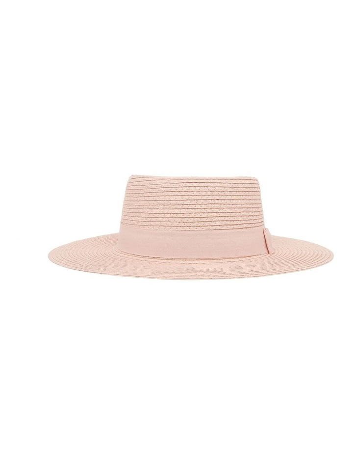 Low Crown Boater Hat - Blush image 1