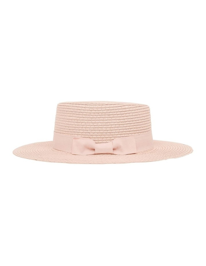 Low Crown Boater Hat - Blush image 2